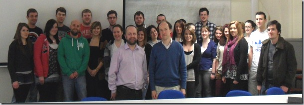 Flooding talk to Dundee University students on 28th February 2012